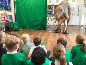 Pupils at at Lower Heath CE Primary School recently had the chance to take part in a dinosaur themed interactive workshop