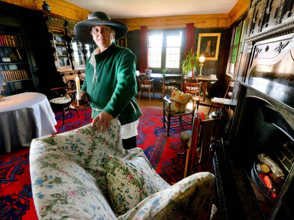 Boscobel House is getting ready to open from Monday. Pictured dressed as a Stewart is Roger Chamberlain from Fordhouses