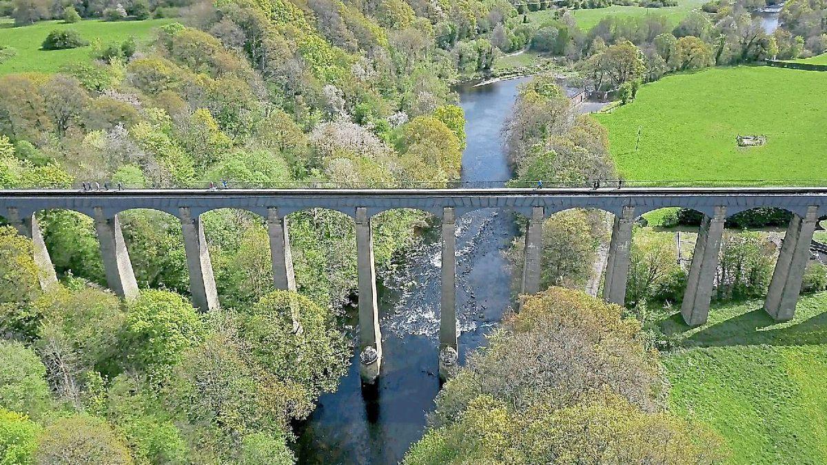 The Pontcysyllte Aqueduct in all its glory