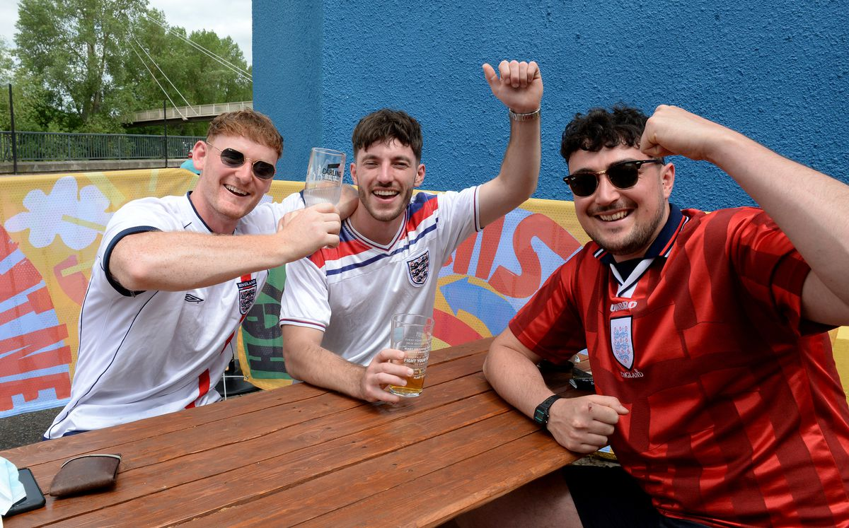 Fans, such as Andrew Charlesworth, Sam Spence and Alex Malam had to wait an extra 12 months for the tournament to start