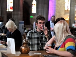 Hundreds pour into Ludlow church for ale festival