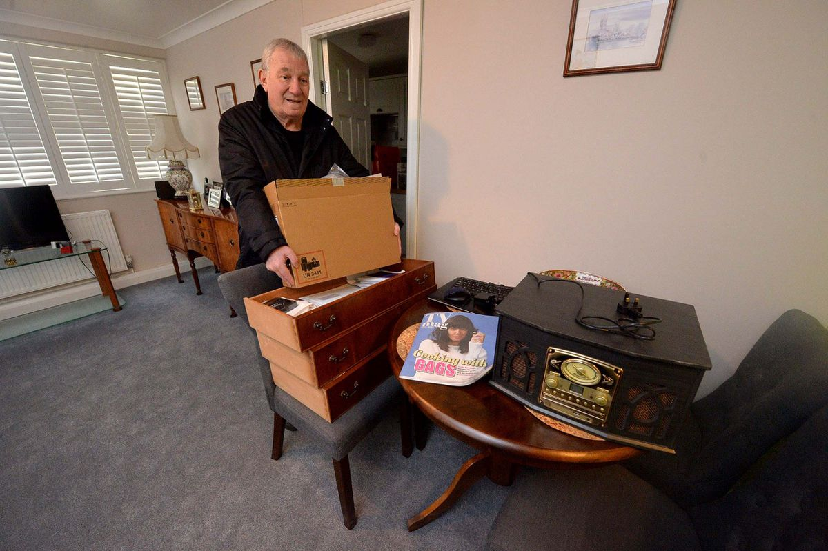 Dennis Clark had moved items off the floor to prevent them getting ruined by flood water.