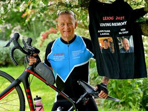 Jeff Lane will be paying tribute to his partner and friend on his gruelling charity cycle ride
