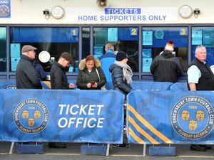 SHREWS COPYRIGHT EXPRESS&STAR TIM THURSFIELD 15/01/20.Salop fans queue for tickets for the Shrewsbury v Liverpool cup clash..