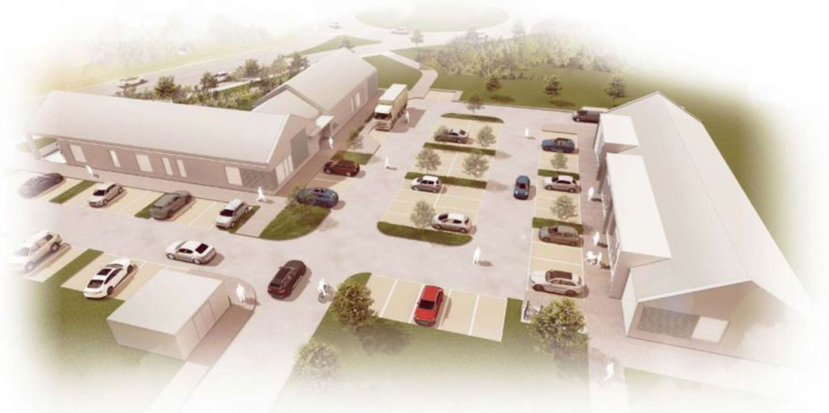 The proposed pub and stores would stand near the Redhill Way roundabout and serve the new 450-home estate to the northeast. Picture: Barton Willmore Design Ltd/Telford & Wrekin Council