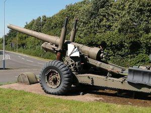 The gun roundabout near MoD Donnington
