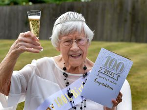 Celebrating her 100th birthday is Gladys While of Madeley, Telford