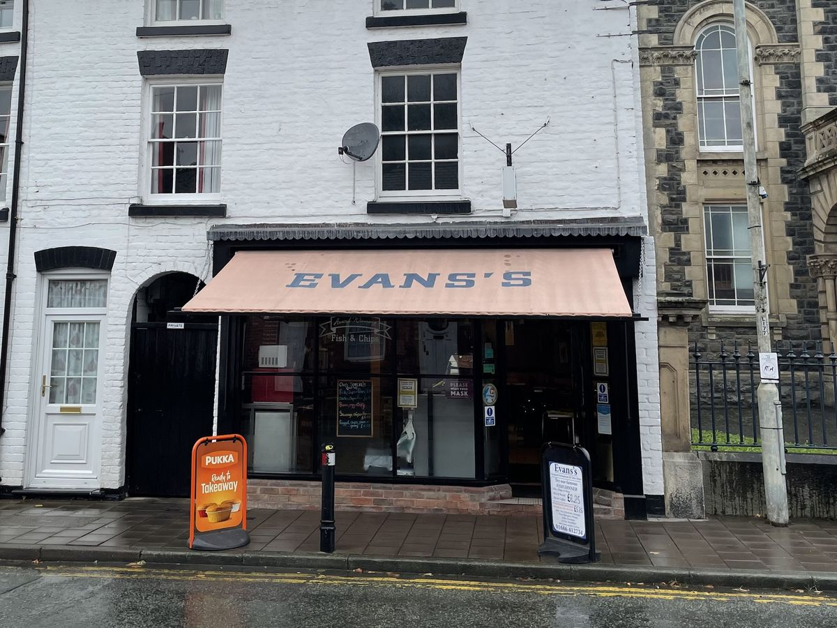 Evans Fish Bar in Llanidloes is up for sale