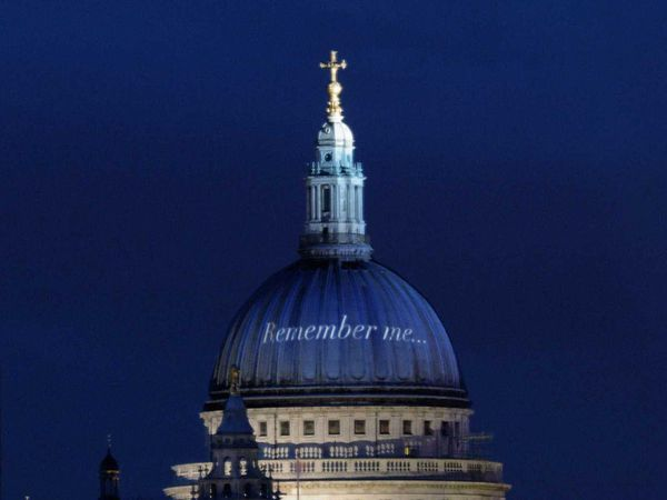 Memorial tribute at St Paul's Cathedral