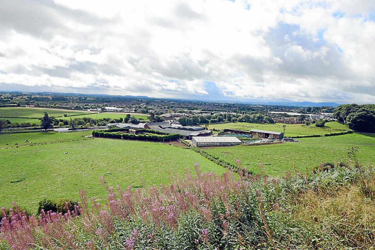 Land in the shadow of the hillfort at Oswestry, some of which could be developed for housing