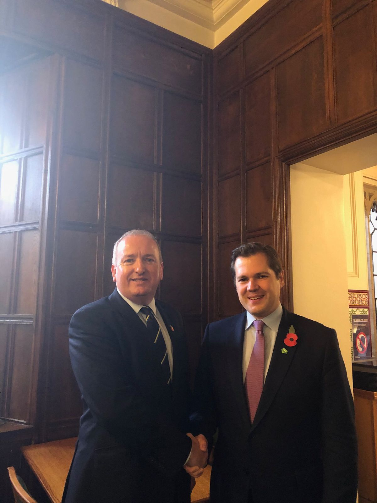 Mark Pritchard with Housing, Communities and Local Government Secretary Robert Jenrick