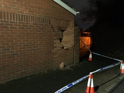 Vehicle smashes into side of Telford home – and then drives off