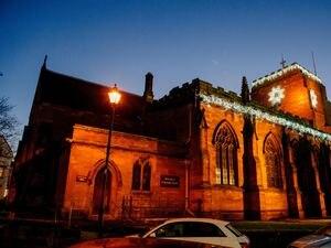 LAST COPYRIGHT SHROPSHIRE STAR JAMIE RICKETTS 07/12/2018 - Newport (Shropshire) at Christmas. In Picture: St Nicholas Church in Newport Shropshire.