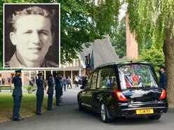 Scores attend Shropshire funeral of tragic RAF war hero who died with no family