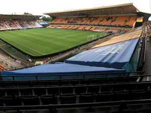 A general view of Molineux Stadium, Wolverhampton. Thursday August 6, 2020. See PA story SOCCER Wolves. Photo credit should read: Mike Egerton/PA Wire.