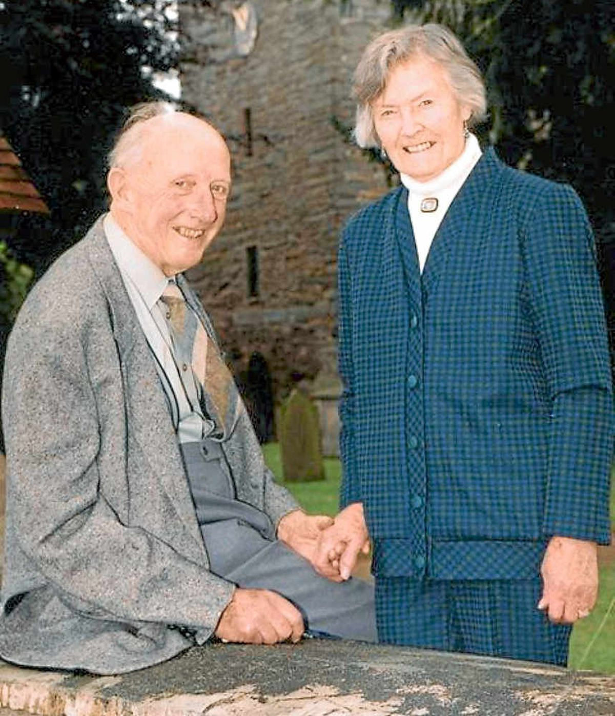 John and Thea Stainer pictured at Worthen Church