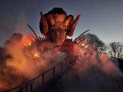 New pictures show how Alton Towers' Wicker Man will make riders feel they're 'racing through flames'