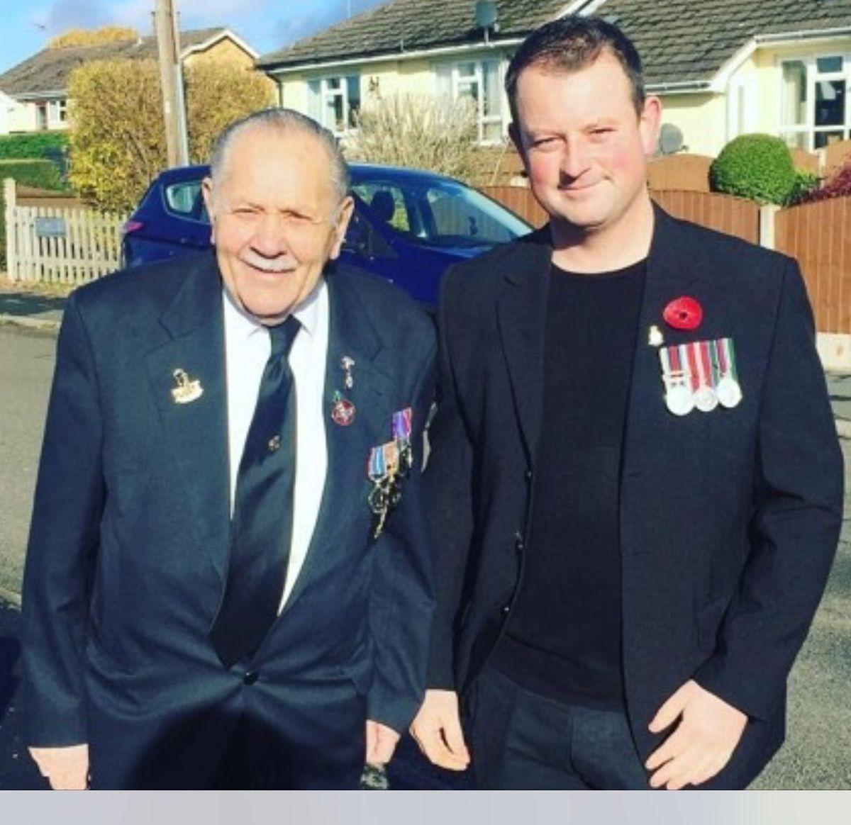 Geoff Tipton with his grandson Matthew