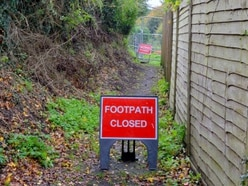 Remedial work starts at unstable Shropshire footpath that halted house build