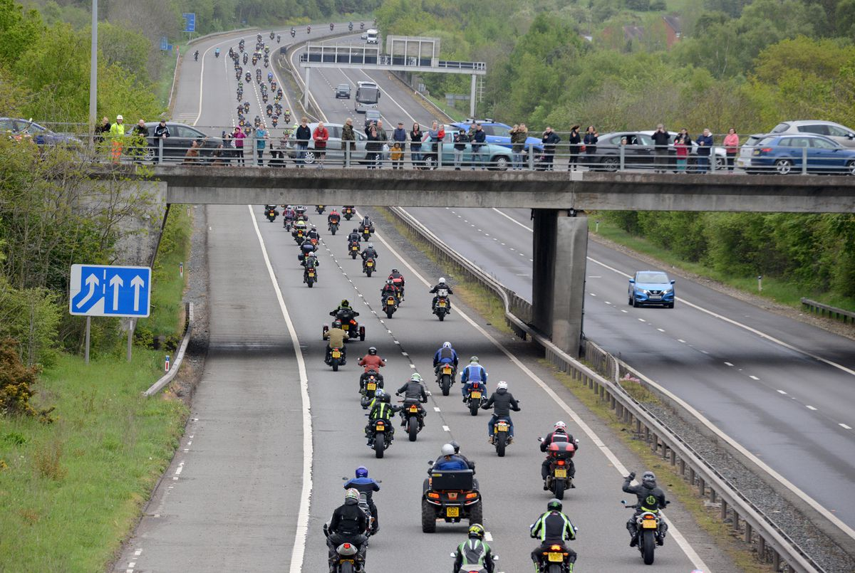 Bikers ride out