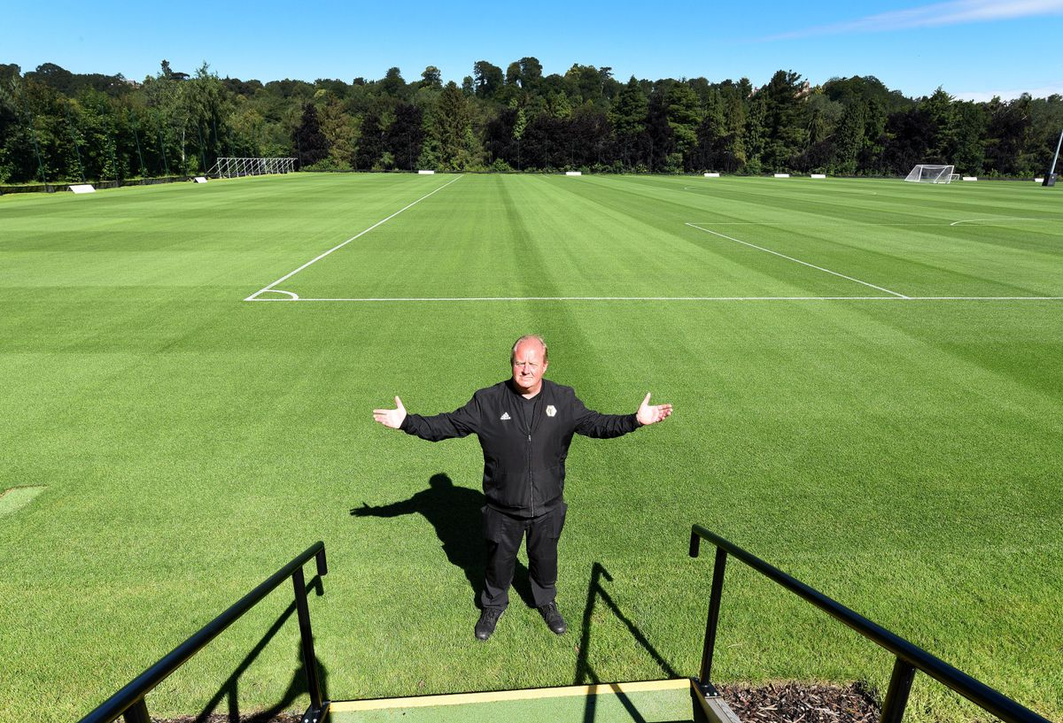 Wayne Lumbard says it's a team effort to keep the Wolves pitches in top condition