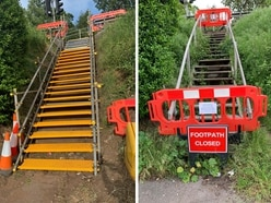 Bridgnorth steps to finally be replaced after near 18-month wait