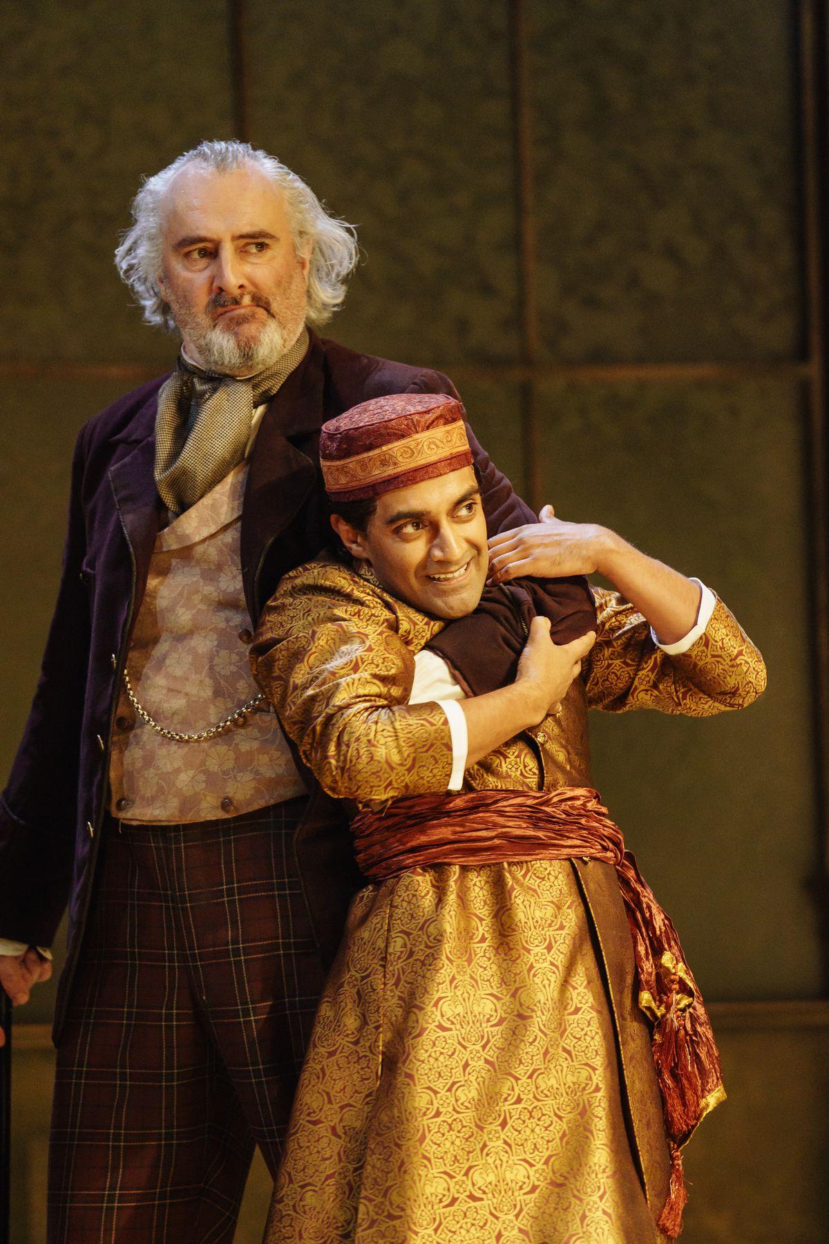 John Hodgkinson as Sir Toby Belch with Esh Alladi as Sebastian. Pictures by: Manuel Harlan