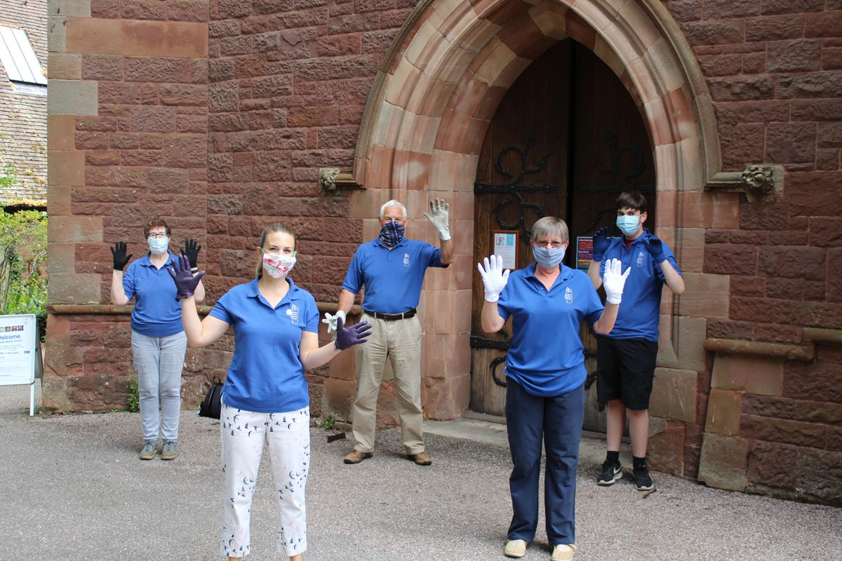 The bell ringers from left to right are Vicki Sivess, Laura Burrows, Andy Digby, Claire Ramsey and Josh Oakley.