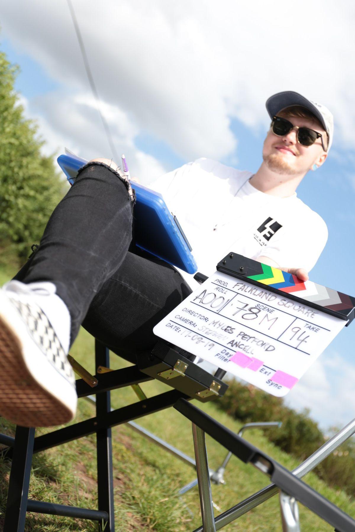 Myles Petford, from Bridgnorth, director of Falklands Square film