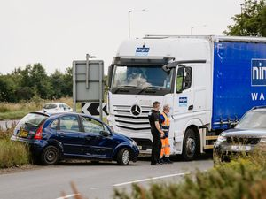 The scene of the crash on the A41