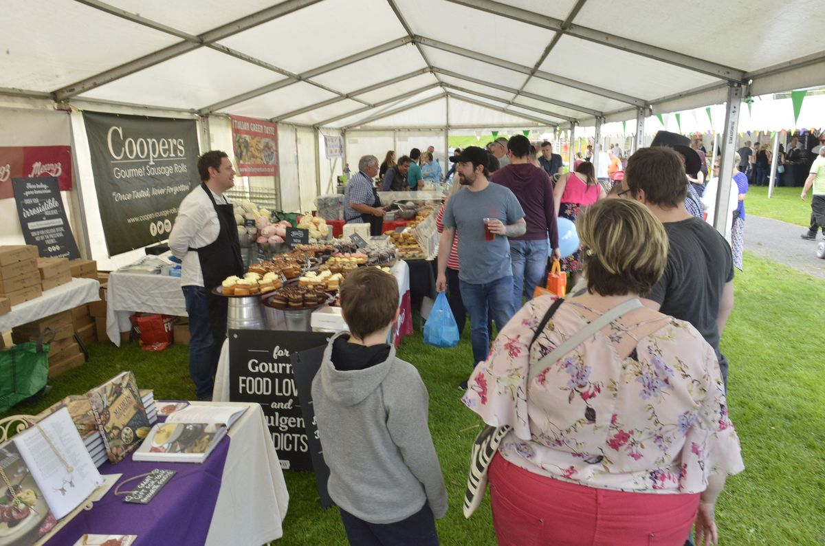 A busy day at the Telfood Festival