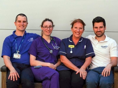 On the front line: Family fighting Covid together in Surrey hospital