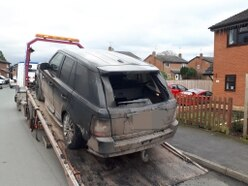 CCTV and dash cam plea after suspected arson attack on Range Rover near Oswestry