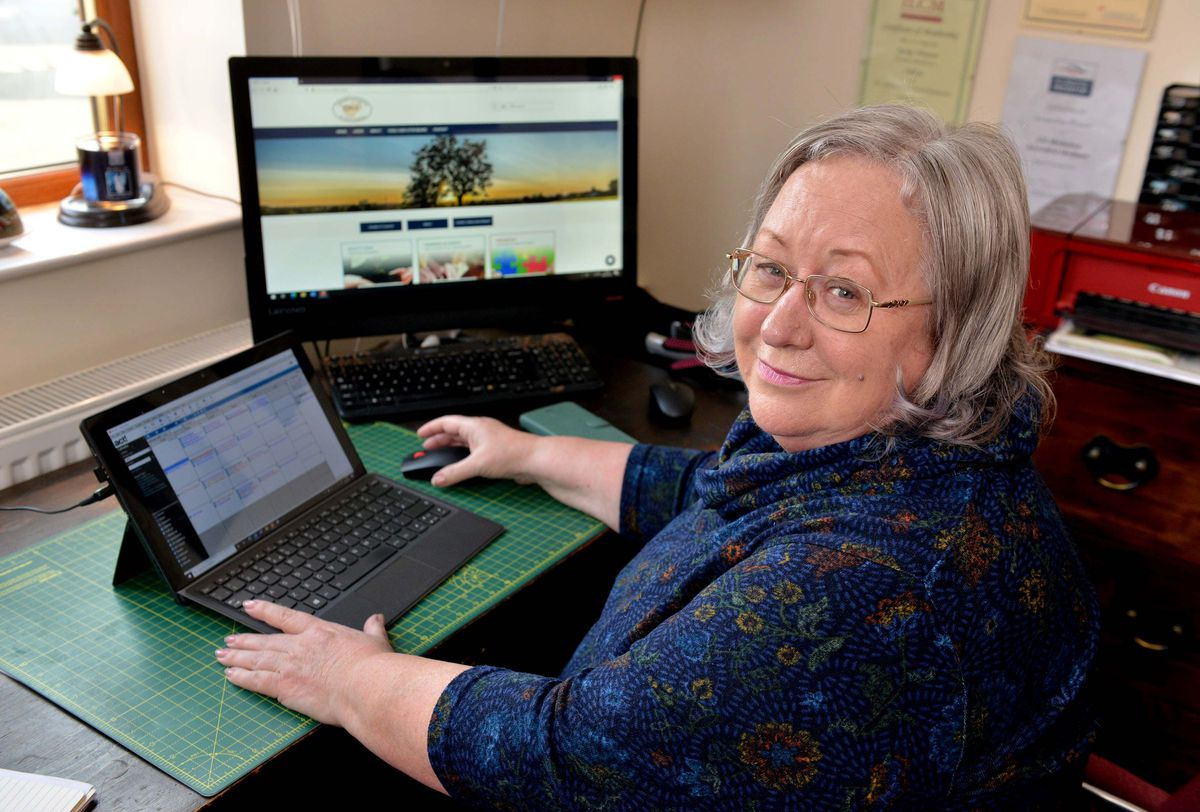 Jackie Weaver, who found unexpected internet stardom after hosting a meeting online for Handworth Parish Council