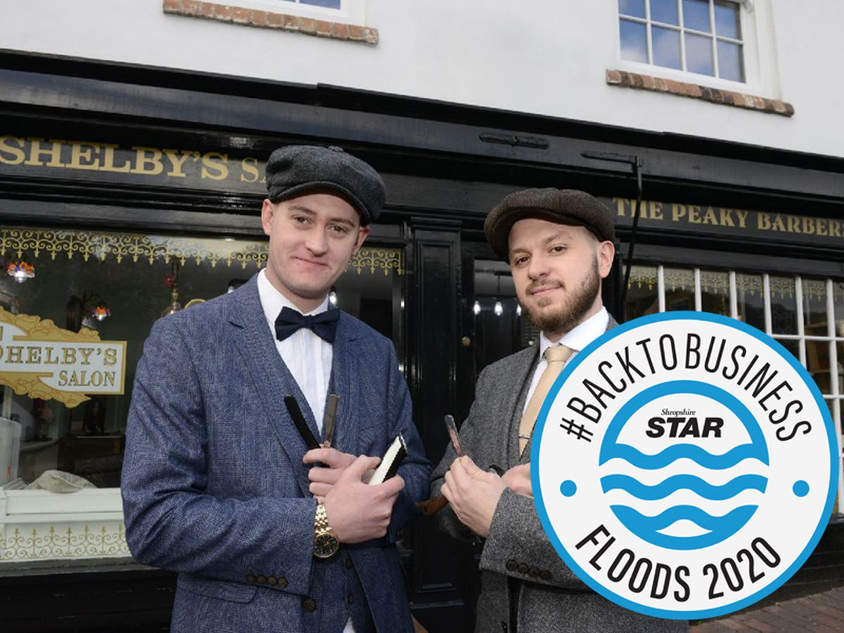 Business Partners Martin Curry, left and Neil Reynolds pictured as they launch The Peaky Barbers