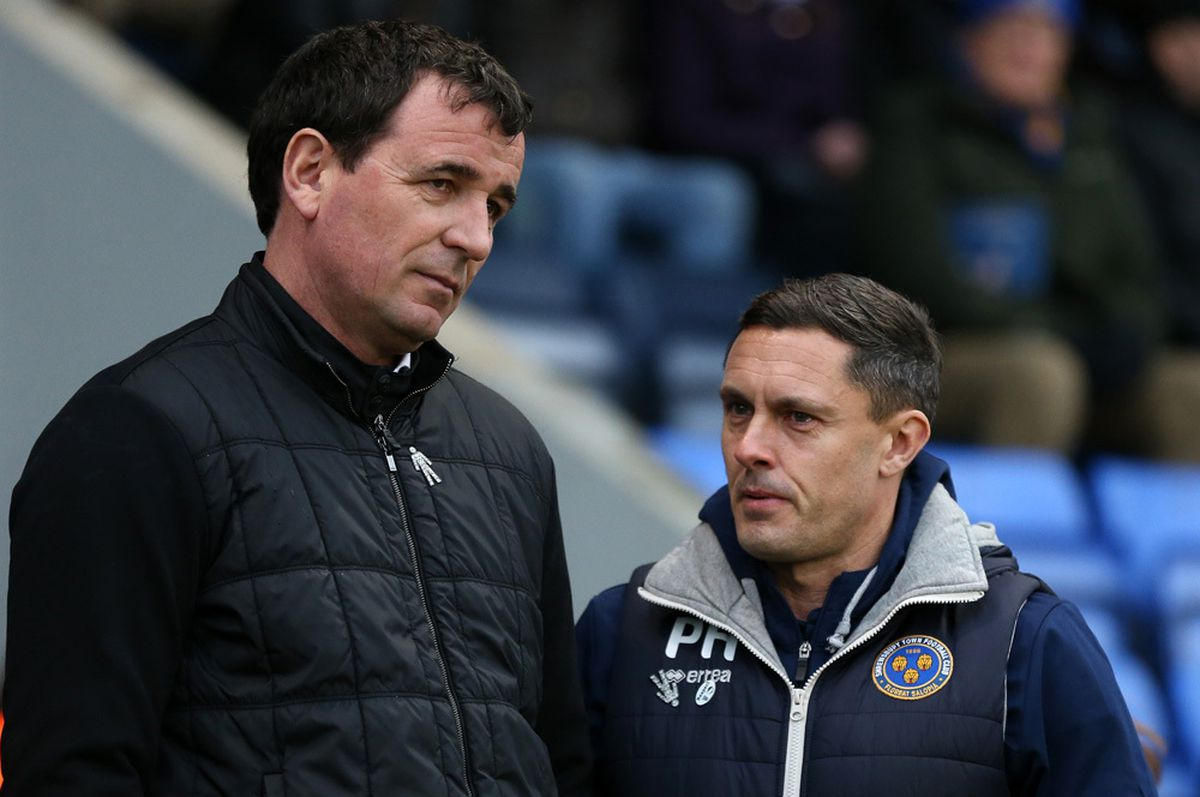 Gary Bowyer Head coach/manager of Blackpool and Paul Hurst (AMA)