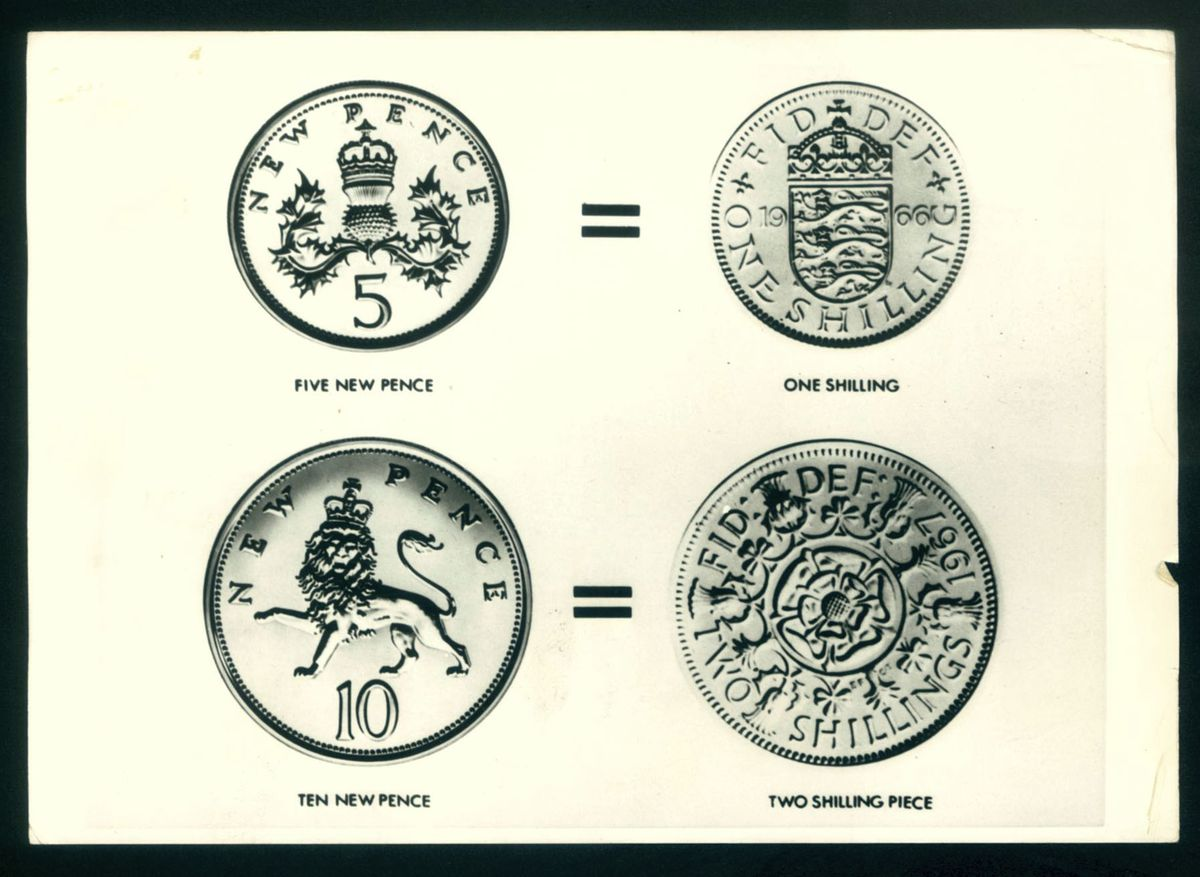 The new 5p and 10p coins were deliberately kept the same size, shape and colour as the old shillings and florins
