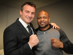 Boxing heroes Richie Woodhall and Roy Jones Junior reunite to knock out cancer