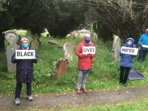 Clun Valley Quakers protest at African Graves in Bishop's Castle