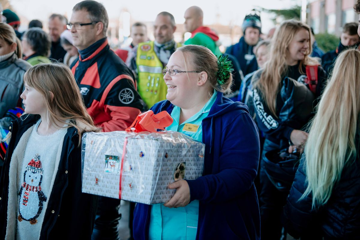 The presents are delivered at Royal Shrewsbury Hospital
