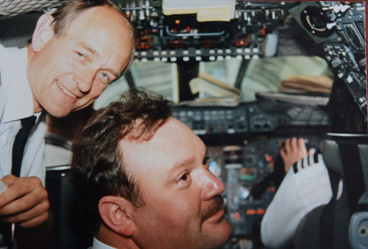 The crew on Frank and Patricia Bell's Concorde flight in 1988