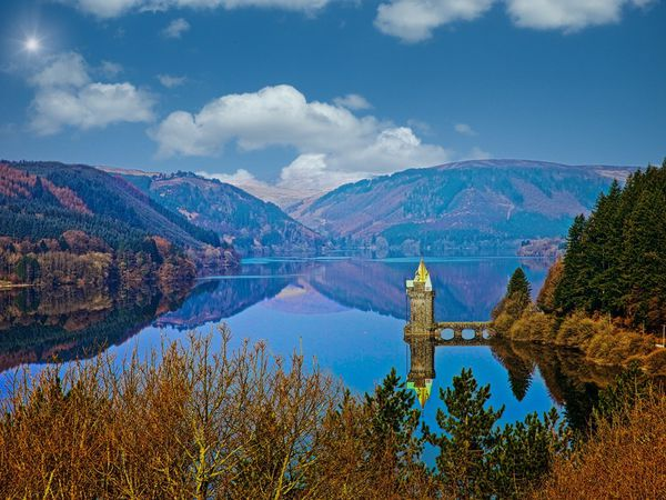 Lake Vyrnwy Reservoir in Wales. Photo: Richard Kyte