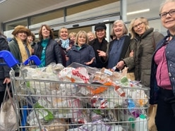 Supermarket sweep with a strong message on plastic in Ludlow protest