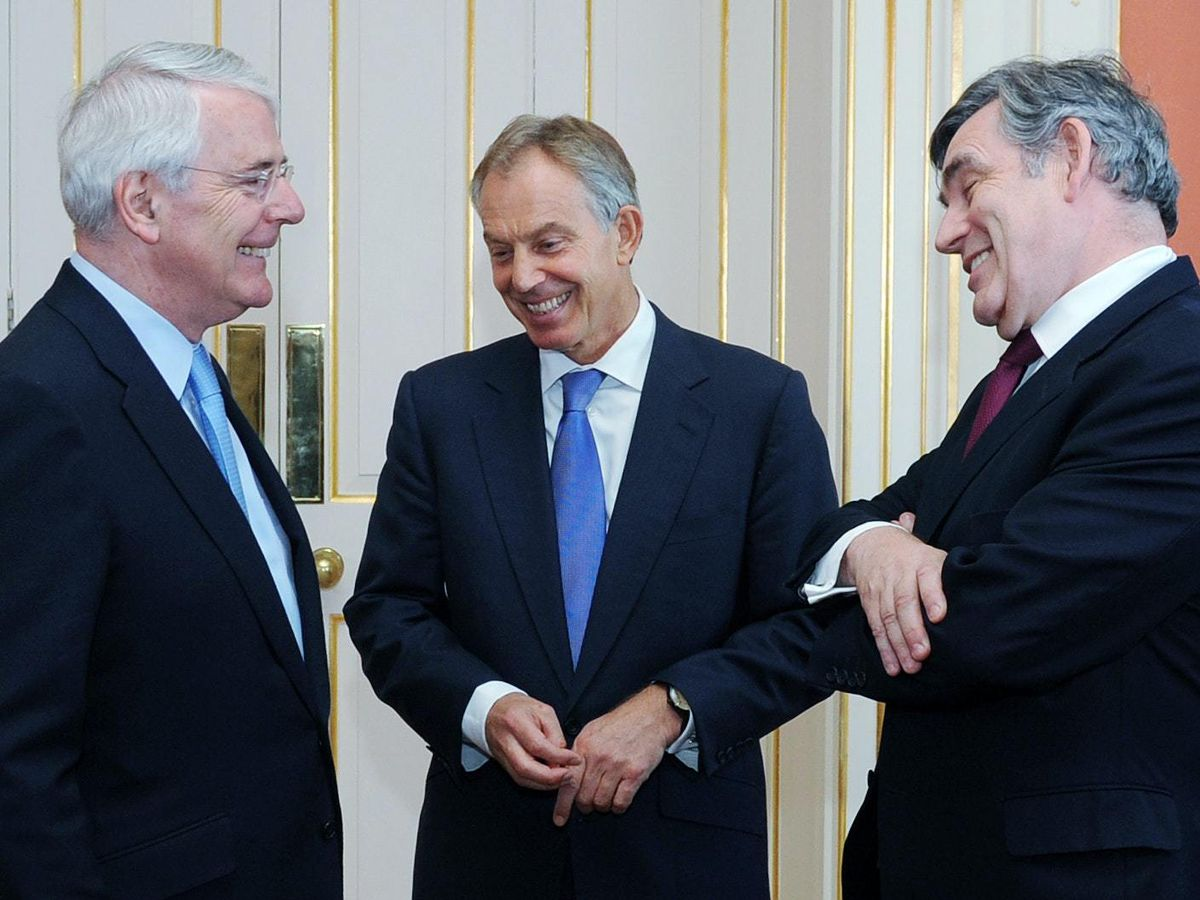 Sir John Major, Tony Blair and Gordon Brown