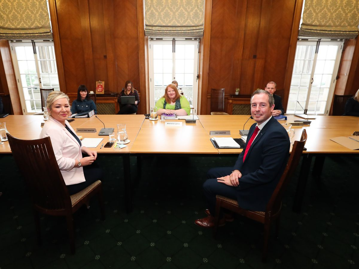 Paul Givan and Michelle O'Neill