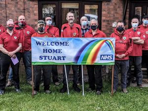 Stuart was welcomed home by his West Mercia Search and Rescue colleagues. Photo: West Mercia Search and Rescue