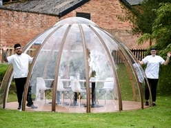 Enjoy fine dining from inside Weston Park dome