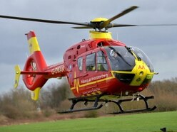 Air ambulance rescues walker near Church Stretton