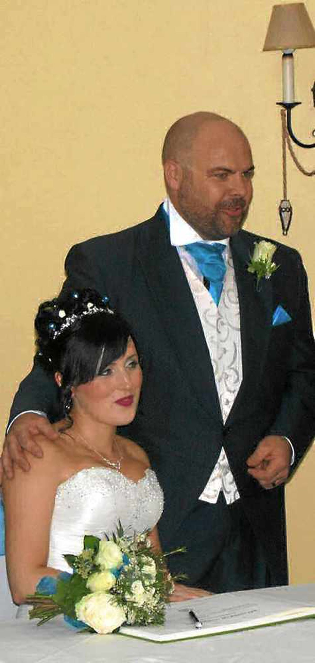 Maria and Andre brought their wedding date forward