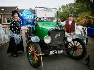 Shirley and Bob Stevenson with their 100-year-old a Model T Ford